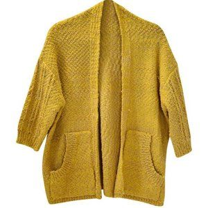 Mustard Knit Oversized Cardigan